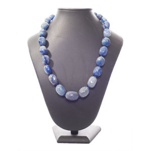 COLLIER PIERRES ROULEES SODALITE